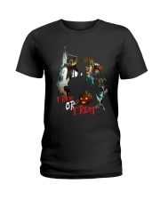 Halloween Annabelle Trick or Treat Ladies T-Shirt thumbnail