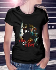 Halloween Annabelle Trick or Treat Ladies T-Shirt lifestyle-women-crewneck-front-7