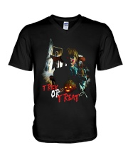 Halloween Annabelle Trick or Treat V-Neck T-Shirt tile
