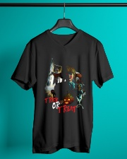 Halloween Annabelle Trick or Treat V-Neck T-Shirt lifestyle-mens-vneck-front-3
