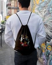 Halloween Annabelle Trick or Treat Drawstring Bag lifestyle-drawstringbag-front-1