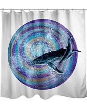 The Whale Swirl Shower Curtain tile