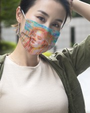 Peaceful Girl 3 Layers Mask 3 Layer Face Mask - Single aos-face-mask-3-layers-lifestyle-front-13