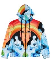 Peace Land Women's All Over Print Full Zip Hoodie thumbnail