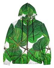 Green Plant Men's All Over Print Full Zip Hoodie tile