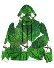 Green Plant Women's All Over Print Full Zip Hoodie tile