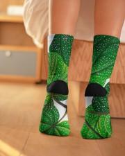 Green Plant Crew Length Socks aos-accessory-crew-length-socks-lifestyle-back-01