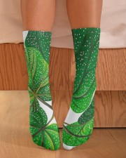 Green Plant Crew Length Socks aos-accessory-crew-length-socks-lifestyle-front-02