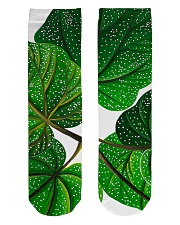 Green Plant Crew Length Socks front