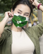 Green Plant 3 Layers Mask 3 Layer Face Mask - Single aos-face-mask-3-layers-lifestyle-front-10
