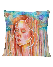 Peaceful Girl Square Pillowcase back