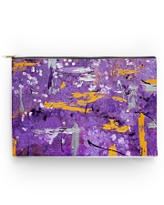 Purple Abstract Accessory Pouch tile