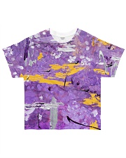 Purple Abstract All-Over T-Shirt tile