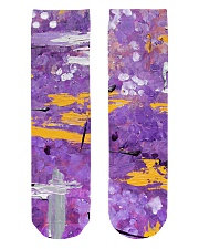 Purple Abstract Crew Length Socks front