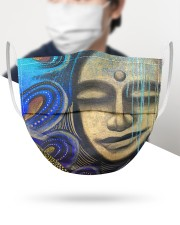 Peaceful 3 Layers Mask 3 Layer Face Mask - Single aos-face-mask-3-layers-lifestyle-front-34