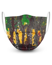 Abstract Forest 3 Layers Mask 3 Layer Face Mask - Single front