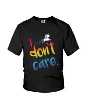 I Don't Care Youth T-Shirt thumbnail