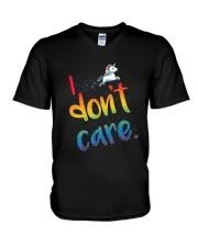 I Don't Care V-Neck T-Shirt thumbnail