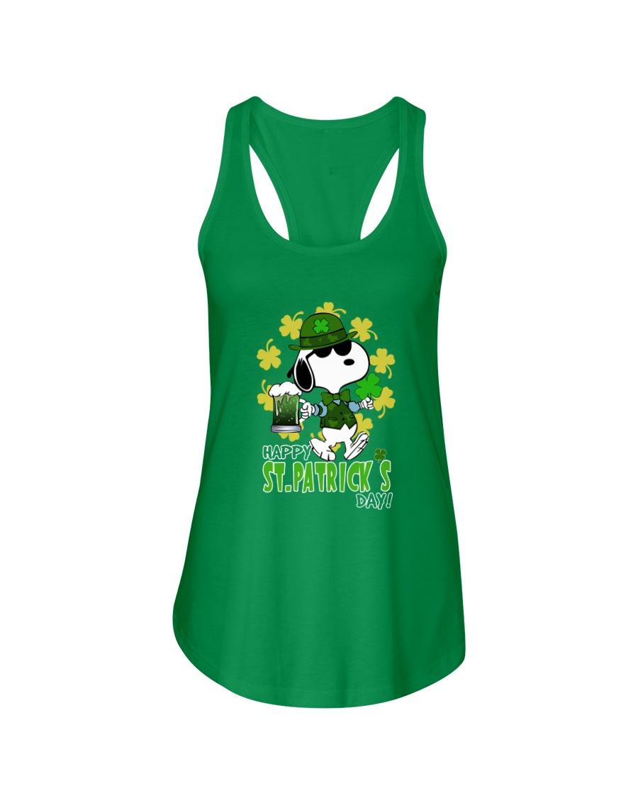 Happy St Patrick's Day Ladies Flowy Tank