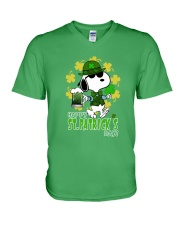 Happy St Patrick's Day V-Neck T-Shirt front