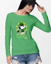 Happy St Patrick's Day Long Sleeve Tee lifestyle-unisex-longsleeve-front-4