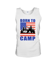 Born To Camp Unisex Tank thumbnail
