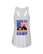 Born To Camp Ladies Flowy Tank thumbnail