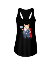 Super Corgi Ladies Flowy Tank thumbnail