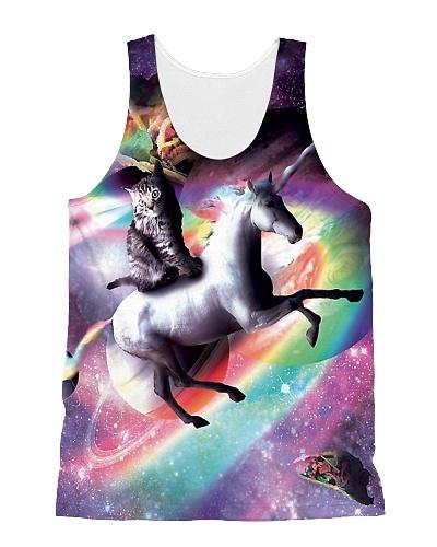 Space Cat Riding Unicorn