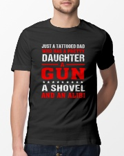 Just A Tattooed Dad Classic T-Shirt lifestyle-mens-crewneck-front-13