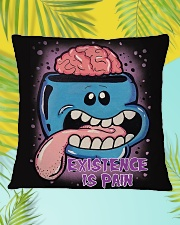 Existence Is Pain Square Pillowcase aos-pillow-square-front-lifestyle-30