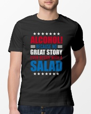 No Great Story Ever Began With A Salad Classic T-Shirt lifestyle-mens-crewneck-front-13