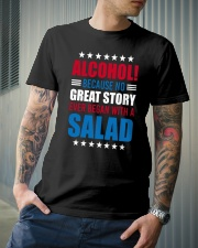 No Great Story Ever Began With A Salad Classic T-Shirt lifestyle-mens-crewneck-front-6