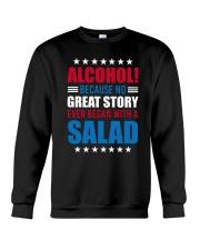No Great Story Ever Began With A Salad Crewneck Sweatshirt thumbnail