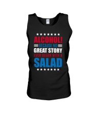 No Great Story Ever Began With A Salad Unisex Tank thumbnail