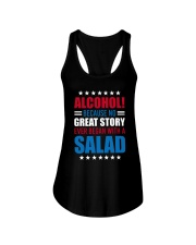 No Great Story Ever Began With A Salad Ladies Flowy Tank thumbnail