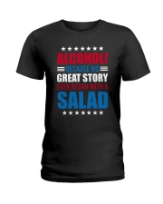 No Great Story Ever Began With A Salad Ladies T-Shirt thumbnail