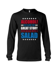 No Great Story Ever Began With A Salad Long Sleeve Tee thumbnail