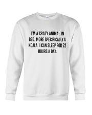 I'm A Crazy Animal In Bed Crewneck Sweatshirt thumbnail