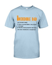 Powerful Dad Classic T-Shirt front