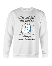 I'm Not Fat Crewneck Sweatshirt thumbnail