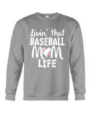 Baseball Mom Life Crewneck Sweatshirt thumbnail