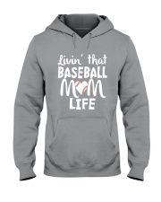 Baseball Mom Life Hooded Sweatshirt thumbnail