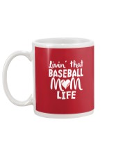 Baseball Mom Life Mug back