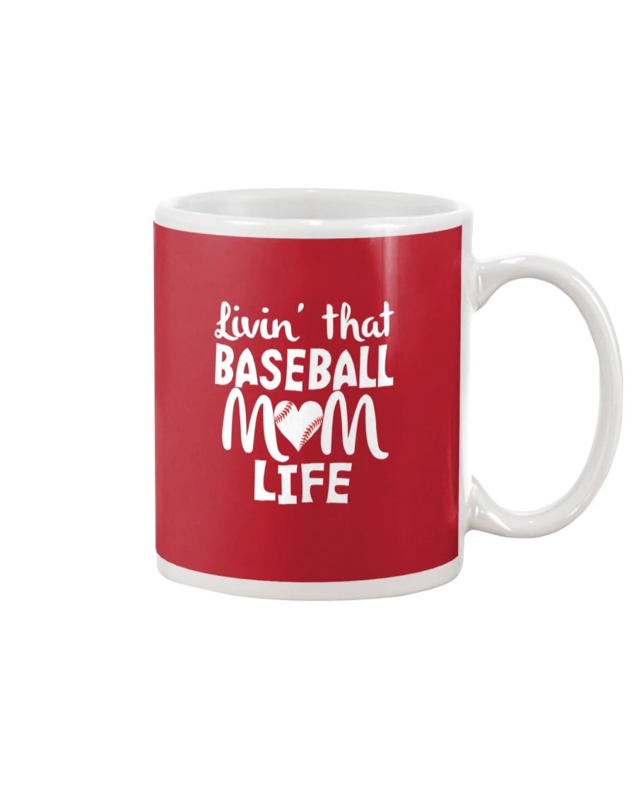 Baseball Mom Life Mug