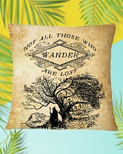 Not All Those Who Wander Are Lost Square Pillowcase aos-pillow-square-front-lifestyle-30