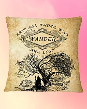 Not All Those Who Wander Are Lost Square Pillowcase aos-pillow-square-front-lifestyle-9