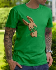 Hug The Clover All Over Classic T-Shirt lifestyle-mens-crewneck-front-7