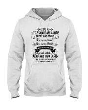 I'm A Little Smart Auntie Hooded Sweatshirt front