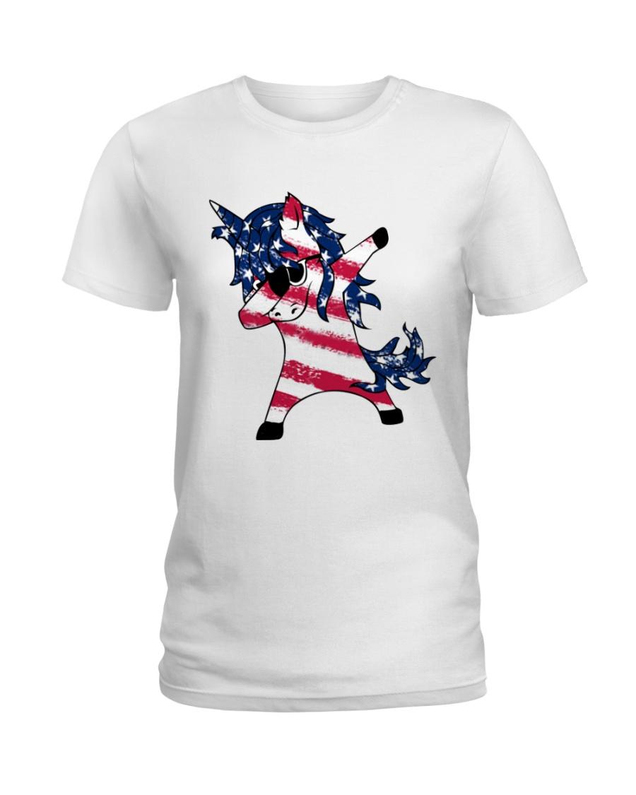 American Unicorn Ladies T-Shirt